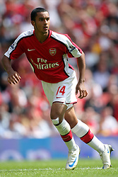 THEO WALCOTT.ARSENAL FC.ARSENAL V WEST BROMWICH ALBION.EMIRATES STADIUM, LONDON, ENGLAND.16 August 2008.DIV85248..  .WARNING! This Photograph May Only Be Used For Newspaper And/Or Magazine Editorial Purposes..May Not Be Used For, Internet/Online Usage Nor For Publications Involving 1 player, 1 Club Or 1 Competition,.Without Written Authorisation From Football DataCo Ltd..For Any Queries, Please Contact Football DataCo Ltd on +44 (0) 207 864 9121