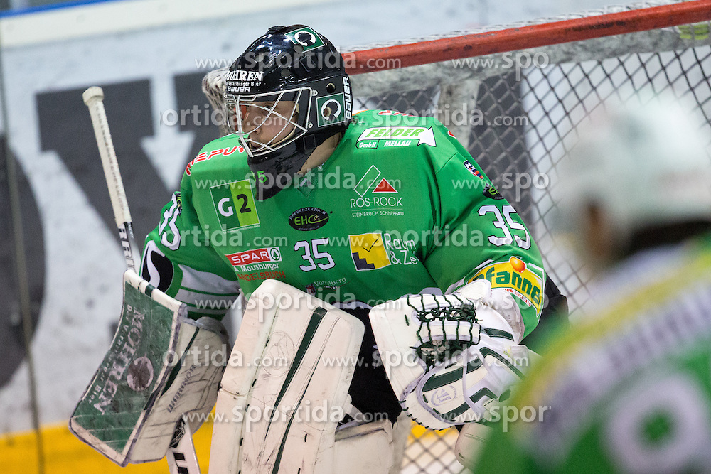 Pierre Svensson of EHC Bregenzerwald during 5th game of final INL league ice hockey match between HK Playboy Slavija and EHC Bregenzerwald at Dvorana Zalog, on April 3, 2013, in Ljubljana, Slovenia. (Photo by Matic Klansek Velej / Sportida)