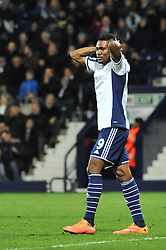 West Bromwich Albion's Brown Ideye cuts a dejected figure - Photo mandatory by-line: Dougie Allward/JMP - Mobile: 07966 386802 - 02/12/2014 - SPORT - Football - West Bromwich - The Hawthorns - West Bromwich Albion v West Ham United - Barclays Premier League