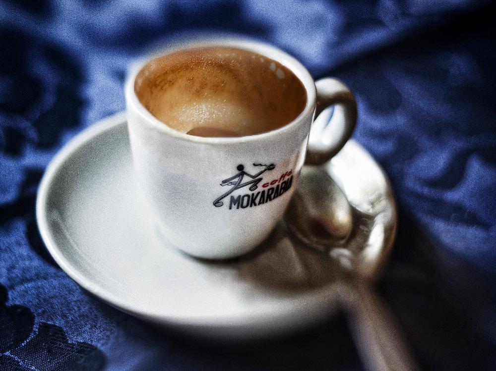 """An espresso (""""un caffe"""") in Chiavenna, Italy."""