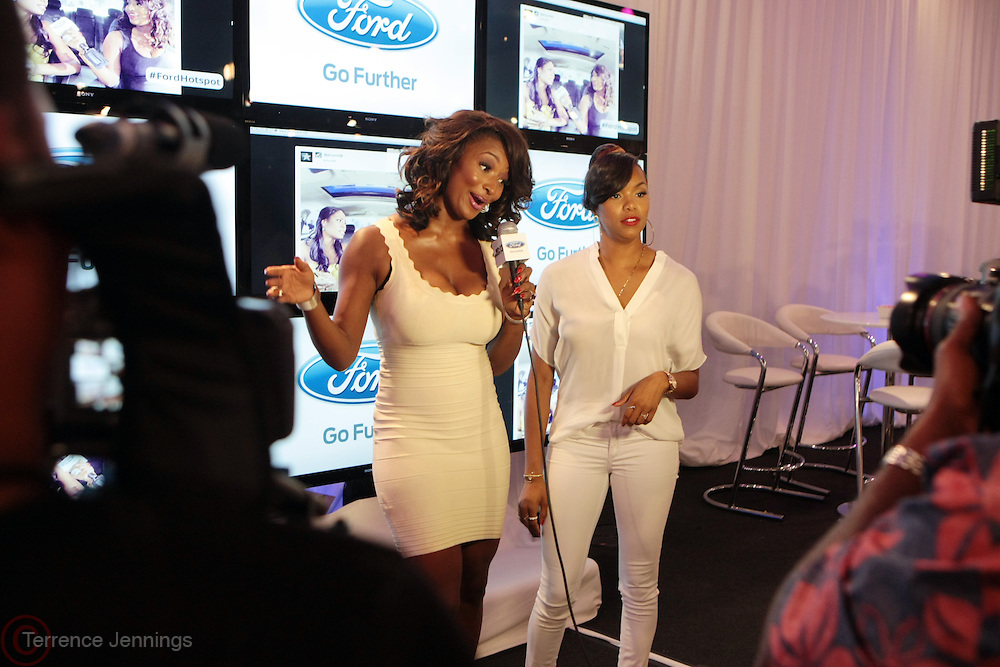 Los Angeles, CA-June 29:  (L-R) On-Air Personality Tocarra and Recording Artist LeToya Luckett attends the 2013 BET Experience in the FORD Lounge held at LA Live on June 29, 2013 in Los Angeles, CA. © Terrence Jennings