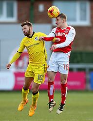Matt Taylor of Bristol Rovers challenges George Glendon of Fleetwood Town - Mandatory by-line: Matt McNulty/JMP - 14/01/2017 - FOOTBALL - Highbury Stadium - Fleetwood, England - Fleetwood Town v Bristol Rovers - Sky Bet League One
