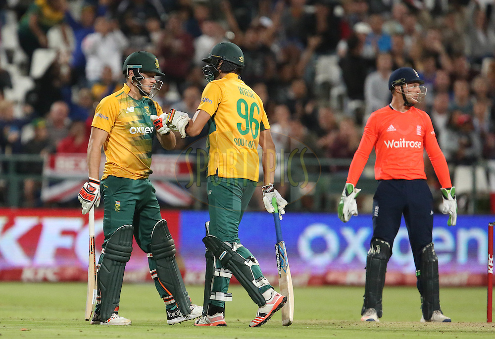 David Miller and David Miller  during the First KFC T20 Match between South Africa and England played at Newlands Stadium, Cape Town, South Africa on February 19th 2016