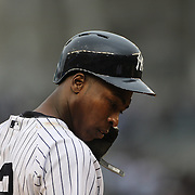 Alfonso Soriano, New York Yankees, during the New York Yankees V Baltimore Orioles home opening day at Yankee Stadium, The Bronx, New York. 7th April 2014. Photo Tim Clayton