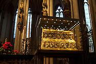 Europa, Deutschland, Koeln, der Dreikoenigsschrein im Dom. - <br /> <br /> Europe, Germany, Cologne, the shrine of the Three Wise Men at the cathedral.