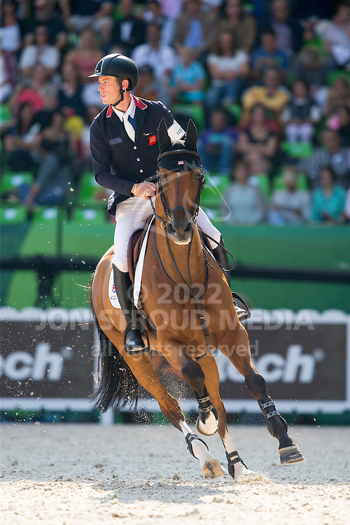 Scott Brash, (GBR), Hello Sanctos - First Round Team Competition Jumping Speed - Alltech FEI World Equestrian Games&trade; 2014 - Normandy, France.<br /> &copy; Hippo Foto Team - Leanjo De Koster<br /> 03-09-14