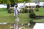 Sam Gillespie riding Coupe Du Monde DB Z during the International Horse Trials at Chatsworth, Bakewell, United Kingdom on 12 May 2018. Picture by George Franks.
