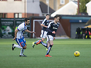 Dundee&rsquo;s Nick Ross and Kilmarnock&rsquo;s Gary Dicker - Kilmarnock v Dundee, Ladbrokes Premiership at Rugby Park<br /> <br />  - &copy; David Young - www.davidyoungphoto.co.uk - email: davidyoungphoto@gmail.com