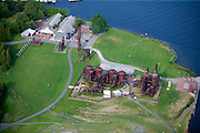 Gas Works Park was built in 1975 around the remnants of the Seattle Gas Light Works gasification plant, which operated on the waterfront from 1906 to 1956.  The old boilers were recycled and adapted for use as landscaping elements, and serve as a reminder to area residents' collective memory. <br /> <br /> Landscape Architect - Richard Haag