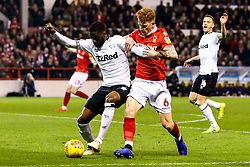 Fikayo Tomori of Derby County takes on Jack Colback of Nottingham Forest - Mandatory by-line: Robbie Stephenson/JMP - 25/02/2019 - FOOTBALL - The City Ground - Nottingham, England - Nottingham Forest v Derby County - Sky Bet Championship