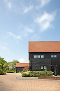 barn hertfordshire england uk wooden black conversion residential