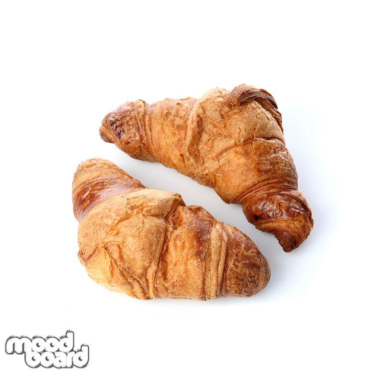 Crossiant on white background - close-up