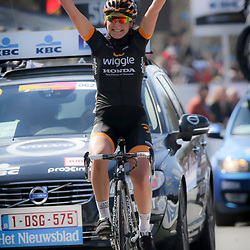 05-04-2015: Wielrennen: Ronde van Vlaanderen vrouwen: Belgie<br /> OUDENAARDE (BEL) cycling<br /> The 3th race in the UCI womens World Cup is the 12th edition of the Ronde van Vlaanderen. The race distance is 145 km with 12 Climbs and 5 zones of Cobbles.