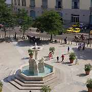 The Plaza outside the Church of San Francisco, Havana, Cuba.