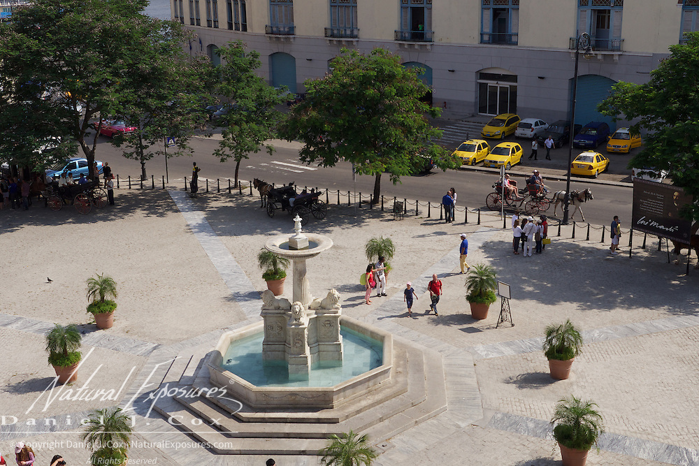 The Plaza outside the Church of San Francisco, Havana, Cuba.