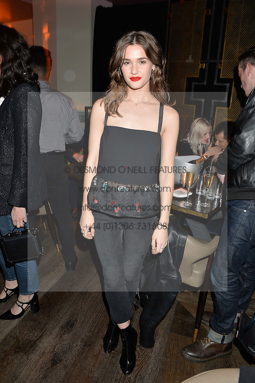 SAI BENNETT at the Fashion Targets Breast Cancer 20th Anniversary Party held at 100 Wardour Street, Soho, London on 12th April 2016.