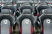 The away team dugout  during the Sky Bet Championship match between Milton Keynes Dons and Middlesbrough at stadium:mk, Milton Keynes, England on 9 February 2016. Photo by Dennis Goodwin.