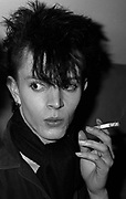 A Goth smoking at the Bastile club, Bristol 1985