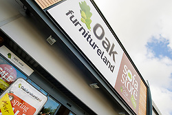 Oak Furniture Land Rotherham Store Celebration Breakfast with Man of Steel at the opening of the Oak Furniture Land Rotherham Store. The cake will be donated to Rotherham Hospice who will use it to help raise funds<br /> <br /> 3 June 2015<br />  Image © Paul David Drabble <br />  www.pauldaviddrabble.co.uk