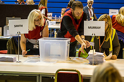 Pictured: <br /> The Edinburgh Count and  announcements ended  around 4:30 this morning with weary heads around all parties.<br /> <br /> Ger Harley | EEm 9 June 2017