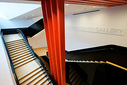 © Licensed to London News Pictures. 28/06/2017. London, UK. View of the staircase leading to the new Sainsbury Gallery as part of the new V & A Exhibition Road Quarter. Photo credit: Ray Tang/LNP