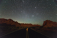 Milky Way Galaxy over Road, Valley of Fire State Park, Nevada