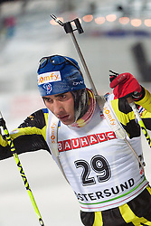 02.12.2010, Skistadium, Östersund, SWE, IBU Biathlon Worldcup, Herren, 20Km, im Bild Martin Fourcade, EXPA Pictures © 2010, PhotoCredit: EXPA/ Skycam/ Thomas Degerström        +++++ ATTENTION - OUT OF SWEDEN/SWE+++++