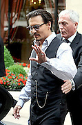 02.JULY.2009. PARIS<br /> <br /> AMERICAN ACTOR JONNY DEPP LEAVING HIS PARIS HOTEL TO GO TO THE PREMIERE OF HIS NEW FILM PUBLIC ENEMIES.<br /> <br /> BYLINE: EDBIMAGEARCHIVE.COM<br /> <br /> *THIS IMAGE IS STRICTLY FOR UK NEWSPAPERS AND MAGAZINES ONLY*<br /> *FOR WORLD WIDE SALES AND WEB USE PLEASE CONTACT EDBIMAGEARCHIVE - 0208 954 5968*