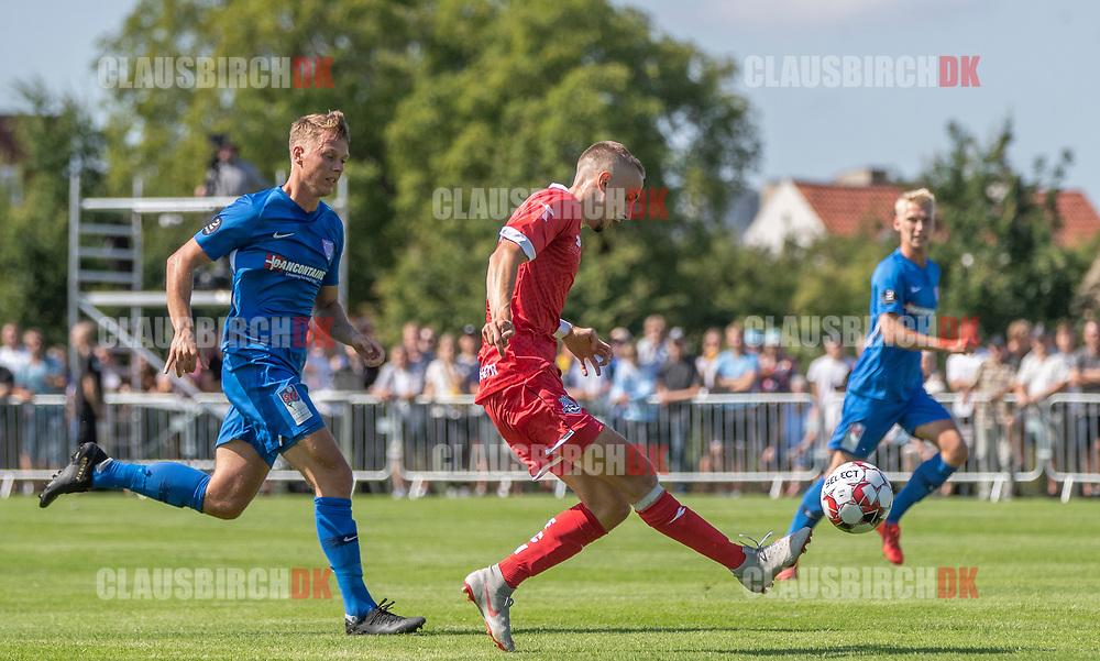 Lucas Haren (FC Helsingør) under kampen i 2. Division mellem Skovshoved IF og FC Helsingør den 3. august 2019 i Skovshoved Idrætspark (Foto: Claus Birch)