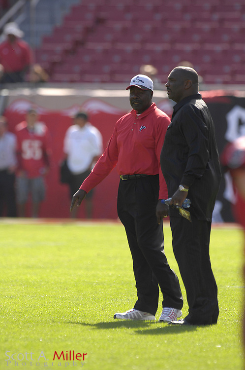 Dec. 23, 2007; Tampa, FL, USA; Atlanta Falcons coach Emmitt Thomas during the Falcons game against the Tampa Bay Buccaneers at Raymond James Stadium....©2007 Scott A. Miller