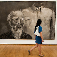 MILAN, ITALY - JULY 06:  'Zhong Shan-Suit' by Chinese artist Zhang Huan at the opening of the Exhibition 'Zhang Huan: Ashman' at the Padiglione Arte Contemporanea of Milan on July 6, 2010 in Milan, Italy. Zhang Huan: Ashman is  an exhibition of 42 of Huan's works, coming from international collections and dating from the early nineties to the most recent realized with ash....***Agreed Fee's Apply To All Image Use***.Marco Secchi /Xianpix. tel +44 (0) 207 1939846. e-mail ms@msecchi.com .www.marcosecchi.com