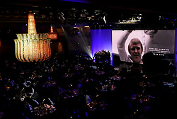 A tribute to Graham Hawkins on the big screen during the Professional Footballers' Association Awards 2017 at the Grosvenor House Hotel, London