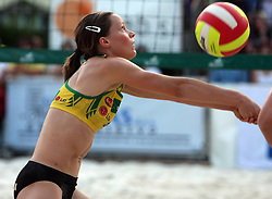 Ana Kocjancic (Aliansa Team) at qualifications for 14th National Championship of Slovenia in Beach Volleyball and also 4th tournament of series TUSMOBIL LG presented by Nestea, on July 25, 2008, in Kranj, Slovenija. (Photo by Vid Ponikvar / Sportal Images)/ Sportida)