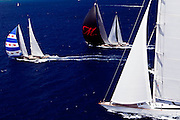 This Is Us, Mirabella V and Marie during the 2011  St. Barths Bucket Regatta Race 3.