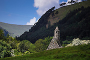 Wicklow County, Glendalough monastery. St Kevin's Kitchen church.