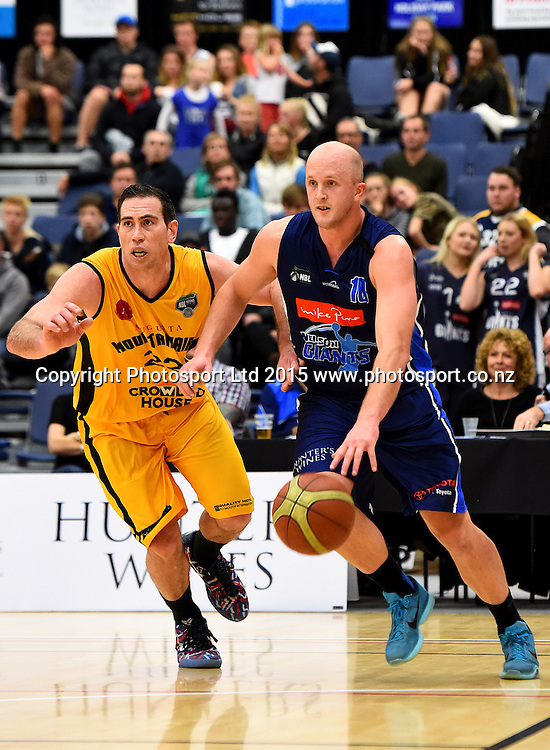 Giants player Sam Dempster during their NBL Basketball game between the Nelson Giants v Taranaki Mountain Airs. Saxton Stadium, Nelson, New Zealand. Saturday 6 June 2015. Copyright Photo: Chris Symes / www.photosport.co.nz