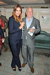 LISA SNOWDON and SIMON KELNER at the 2016 Fortnum & Mason Food & Drink Awards held at Fortnum & Mason, Piccadilly, London on 12th May 2016.