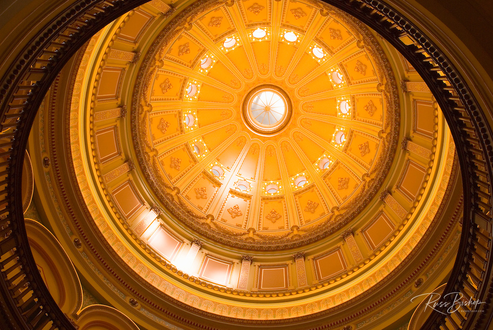 The rotunda in the California State Capitol building, Sacramento, California