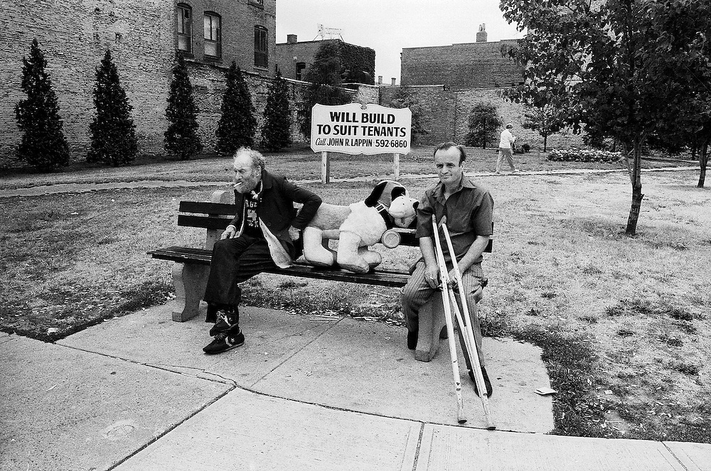 Gang on Bench, Salem Ma, 1979