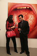 Nilam Sharma and Rajit Dutta, Other,Riyas Komu and Peter Drake. - VIP  launch of Aicon. London's largest contemporary Indian art gallery. Heddon st. and afterwards ant Momo.15 Marc h 2007.  -DO NOT ARCHIVE-© Copyright Photograph by Dafydd Jones. 248 Clapham Rd. London SW9 0PZ. Tel 0207 820 0771. www.dafjones.com.