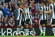 Aston Villa defender Tommy Elphick (6) scores an own goal to give Newcastle the lead 0-1 during the EFL Sky Bet Championship match between Aston Villa and Newcastle United at Villa Park, Birmingham, England on 24 September 2016. Photo by Alan Franklin.