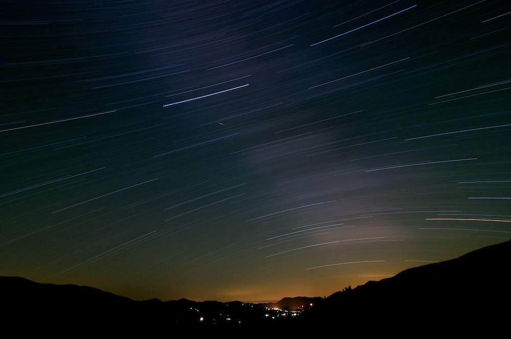 Star trails over the Methow Valley of Washington State