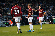 Sam Hoskins celebrates scoring a penalty to make it 3-0 during the EFL Sky Bet League 2 match between Northampton Town and Crewe Alexandra at the PTS Academy Stadium, Northampton, England on 16 November 2019.