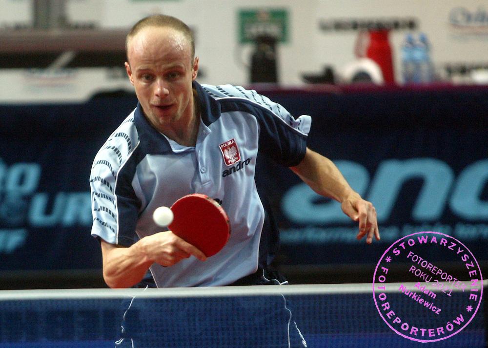 n/z.: Lucjan Blaszczyk (Polska)..18-11-2006 Warszawa Polska.Miedzynarodowy turniej tenisa stolowego ITTF Pro Tour Polish Open.fot.: Przemek Wierzchowski / Mediasport
