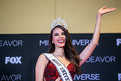 "December 17, 2018 - Bangkok, Thailand - Miss Philippines ""Catriona Gray"" talks to medias after being crowned the new Miss Universe 2018 at Impact Arena Muang Thong Thani. (Credit Image: © Sek Roj/Pacific Press via ZUMA Wire)"