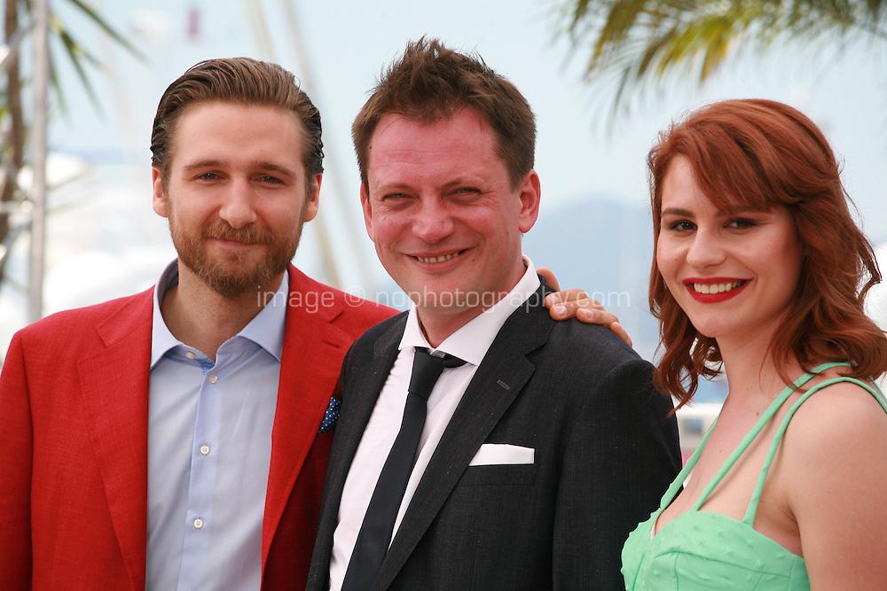 Actor Goran Markovic, Director Dalibor Matanic and actress Tihana Lazovic at the Zvizdan (The High Sun) film photo call at the 68th Cannes Film Festival Sunday 17th May 2015, Cannes, France.
