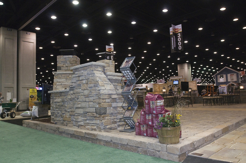 Photos of the Pavestone booth at the 2012 Hardscape North America show Wednesday through Friday, Oct. 24 - 26, 2012, at the Kentucky Exposition Center in Louisville, Ky. (Photo by Brian Bohannon)