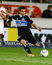 23.09.2011, Mercedes-Benz Arena, Stuttgart, GER, 1.FBL, VfB Stuttgart vs Hamburger SV, Zhi-Gin Andreas LAM, HSV am Ball, Aktion..// during the match from GER, 1.FBL, VfB Stuttgart vs Hamburger SV on 2011/09/23, Mercedes-Benz Arena, Stuttgart  Germany..EXPA Pictures © 2011, PhotoCredit: EXPA/ nph/  A.Huber       ****** out of GER / CRO  / BEL ******