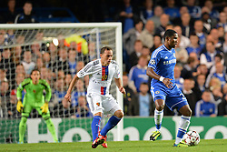 LONDON, ENGLAND - September 18: Chelsea's Samuel Eto'o  during the UEFA Champions League Group E match between Chelsea from England and Basel from Switzerland played at Stamford Bridge, on September 18, 2013 in London, England. (Photo by Mitchell Gunn/ESPA)