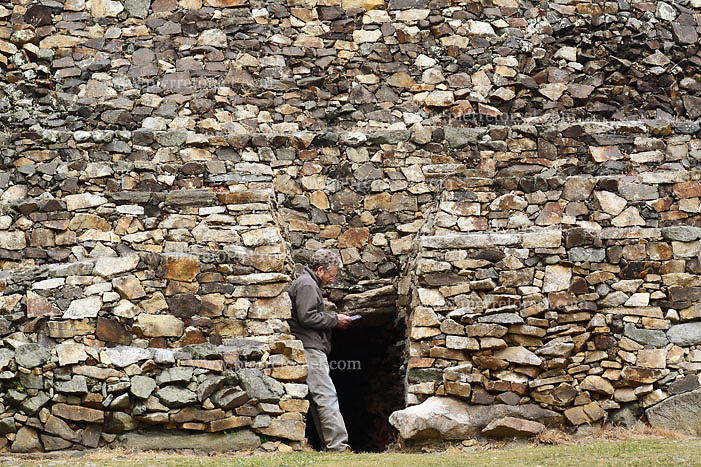 Cairn de Barnenez, a megalithic funeral construction (Brittany, France).